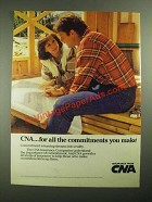 1987 CNA Insurance Ad - For All The Commitments
