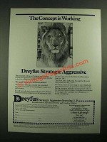 1987 Dreyfus Strategic Aggressive Investing Ad - Concept is Working
