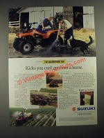 1987 Suzuki Quadrunner 300 ATV Ad - Kicks You Can't Get From a Horse