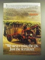 1987 Kawasaki Bayou 300 ATV Ad - We Never Miss the Ox