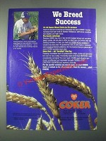 1987 Coker Pedigreed Seed Ad - We Breed Success