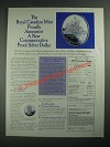 1987 The Royal Canadian Mint Commemorative Silver Dollar Ad