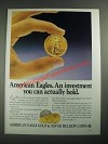 1987 United States Mint American Eagles Ad - Can Actually Hold