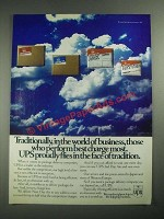 1987 UPS Package Delivery Ad - Those Who Perform Best Charge Most