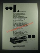 1987 Pitney Bowes Fax Machine Ad - Listen to This Idea