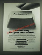 1987 Smith Corona XD 6500 Typewriter Ad - This Year's Hot Button