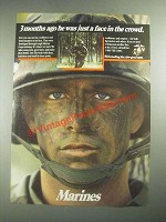 1987 U.S. Marines Ad - 3 Months Ago He Was Just a Face in the Crowd