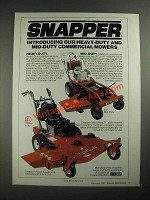 1987 Snapper Mid-Duty and Heavy-Duty Mowers Ad