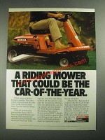 1987 Honda Riding Mower Ad - Could Be Car-of-the-Year