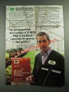 1987 Scotts ProTurf 15-0-30 High K Fertilizer Ad - For Greens and Golfers