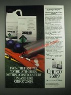 1987 Rhone-Poulenc Chipco 26019 Ad - First Tee to the 18th Green