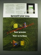 1987 Elanco Team Ad - Spread it Your Way