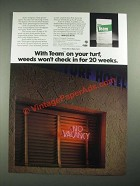 1987 Elanco Team Ad - Weeds Won't Check in For 20 Weeks