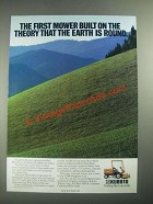 1987 Kubota F2000 Front Mower Ad - The Theory That The Earth is Round