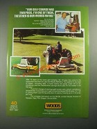1987 Woods RM 90 Mower Ad - Our Golf Course Has Two Pros