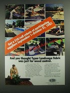 1987 Reemay Typar Landscape Fabric Ad - And You Thought