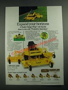 1987 Excel Hustler Range Wing Rotary Mower Ad - Expand Your Horizons