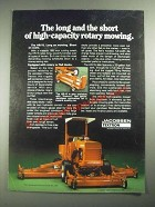 1987 Textron Jacobsen HR-15 Mower Ad - The Long and the Short