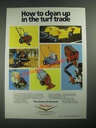 1987 Parker Turf Equipment Ad - Clean Up in the Turf Trade