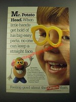 1987 Playskool Mr. Potato Head. Ad - Little Hands Get Hold of Big Easy Parts