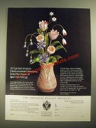 1987 The Franklin Mint Ad - The Imperial Palace Bouquet by Igor Carl Faberge