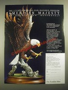 1987 The Franklin Mint Ad - American Majesty by Ronald Van Ruyckevelt