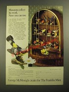 1987 The Franklin Mint Ad - Birds and Blossoms of the World