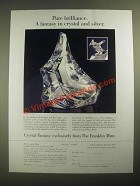 1987 The Franklin Mint Ad - Crystal Fantasy by James Carpenter
