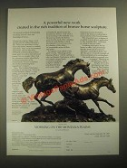 1987 The Franklin Mint Ad - Morning on the Montana Plains Sculpture