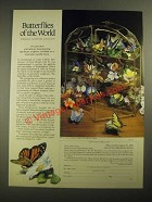 1987 The Franklin Mint Ad - The Butterflies of the World sculpture