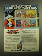 1987 Disney's Wonderful World of Reading Books Ad - Scrooge McDuck