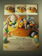 1987 Hallmark Easter Items Ad - Won't Hop Up to the Attic