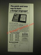 1987 Barnes & Noble Berlitz Language/30 Program Ad - Quick and Easy