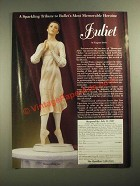 1987 The Hamilton Collection Ad - Juliet figurine by Eugene Daub