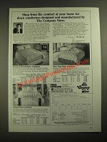 1987 The Company Store Down Comforters Ad - European Hi-Loft, Karo Step