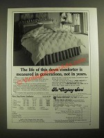 1987 The Company Store Karo Step Down Comforter Ad
