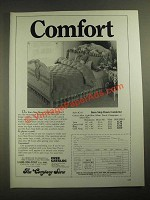 1987 The Company Store Karo Step Down Comforter Ad - Comfort