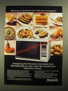 1987 Panasonic Gemini Microwave Ad - Why Buy A Oven That Just Microwaves