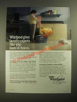 1987 Whirlpool Washer and Dryer Ad - Loads of Choices