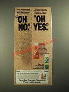 1987 Resolve Carpet Cleaners Ad - Oh No. Oh Yes