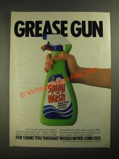 1987 Spray 'n Wash Ad - Grease Gun