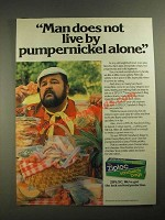 1987 Ziploc Sandwich Bags Ad - Dom DeLuise - Does Not Live By Pumpernickel Alone