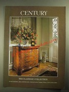 1987 Century Claridge Collection Serpentine-Front Chest Ad