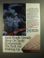 1987 Sealy Posturepedic Mattress Ad - The Rest are Waking Up