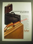1987 Hartmann Briefcase Ad - Presents a Strong Case for Your Next Case