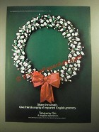 1987 Tanqueray Gin Ad - Share the Wreath