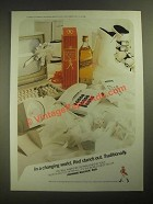 1987 Johnnie Walker Red Scotch Ad - In a Changing World