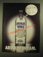 1987 Absolut Vodka Ad - Absolut Dream