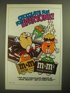 1987 M&M's Candies Ad - Chocolate Fun for Everyone - Pool