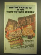 1987 Nabisco Bonkers! Chewy Candy Ad - Everyone's Bonked Out